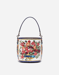 GLAM BUCKET BAG IN PRINTED LEATHER