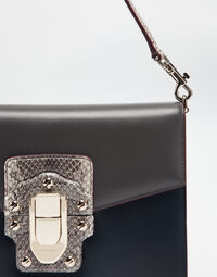 LUCIA SHOULDER BAG IN LEATHER AND AYERS
