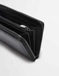 ZIP AROUND WALLET IN DAUPHINE LEATHER