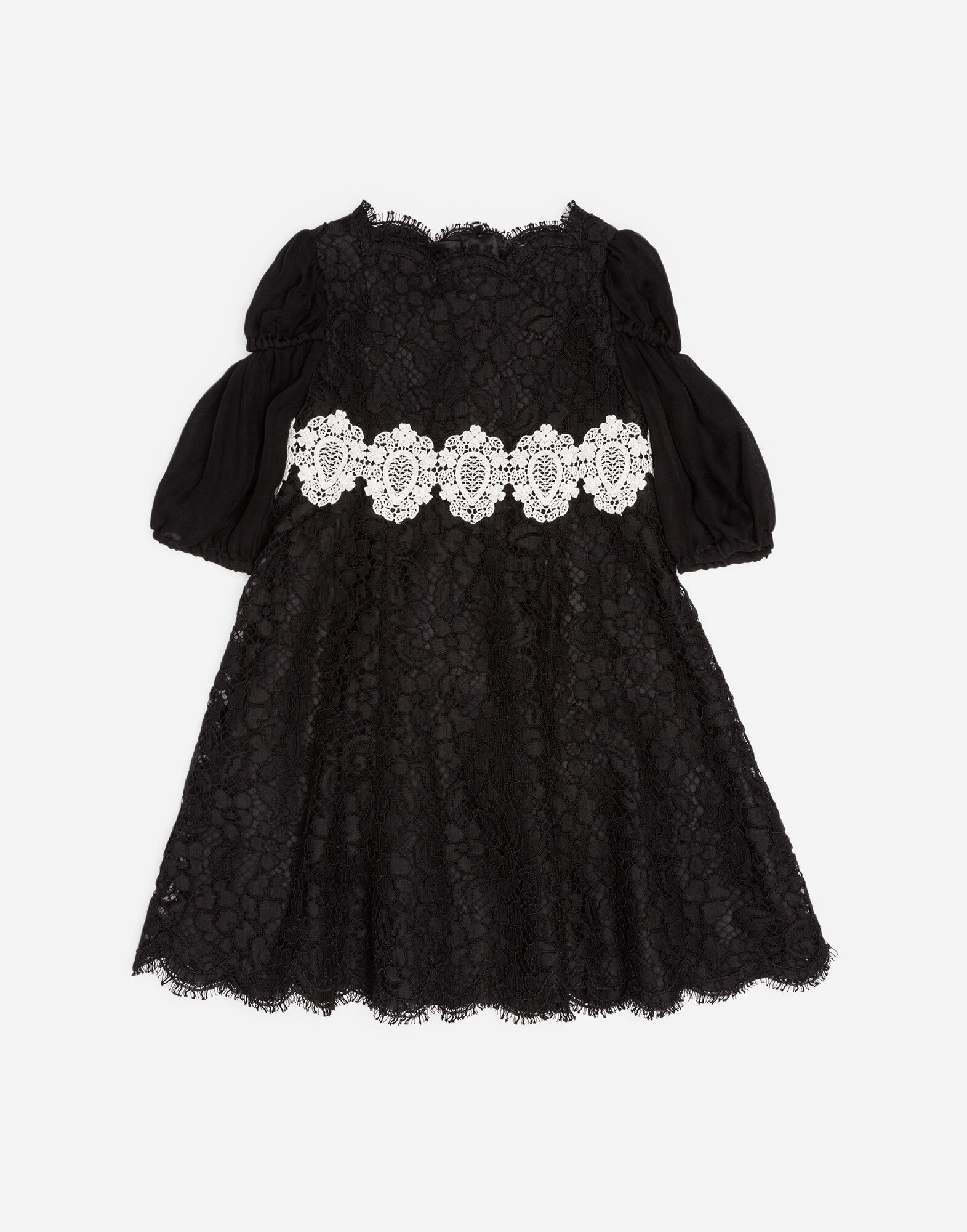 Dolce&Gabbana A-LINE DRESS IN CORDONETTO LACE