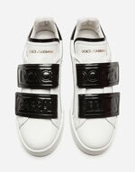 SNEAKERS IN CALFSKIN WITH DOUBLE VELCRO