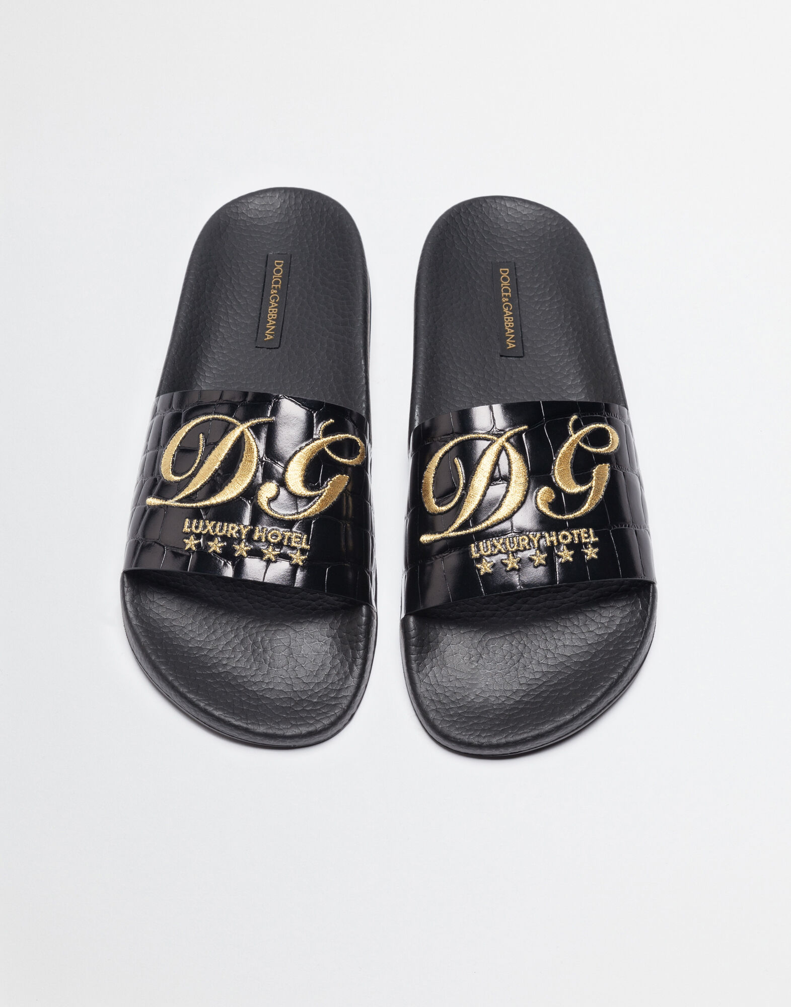RUBBER SLIPPERS WITH EMBROIDERY