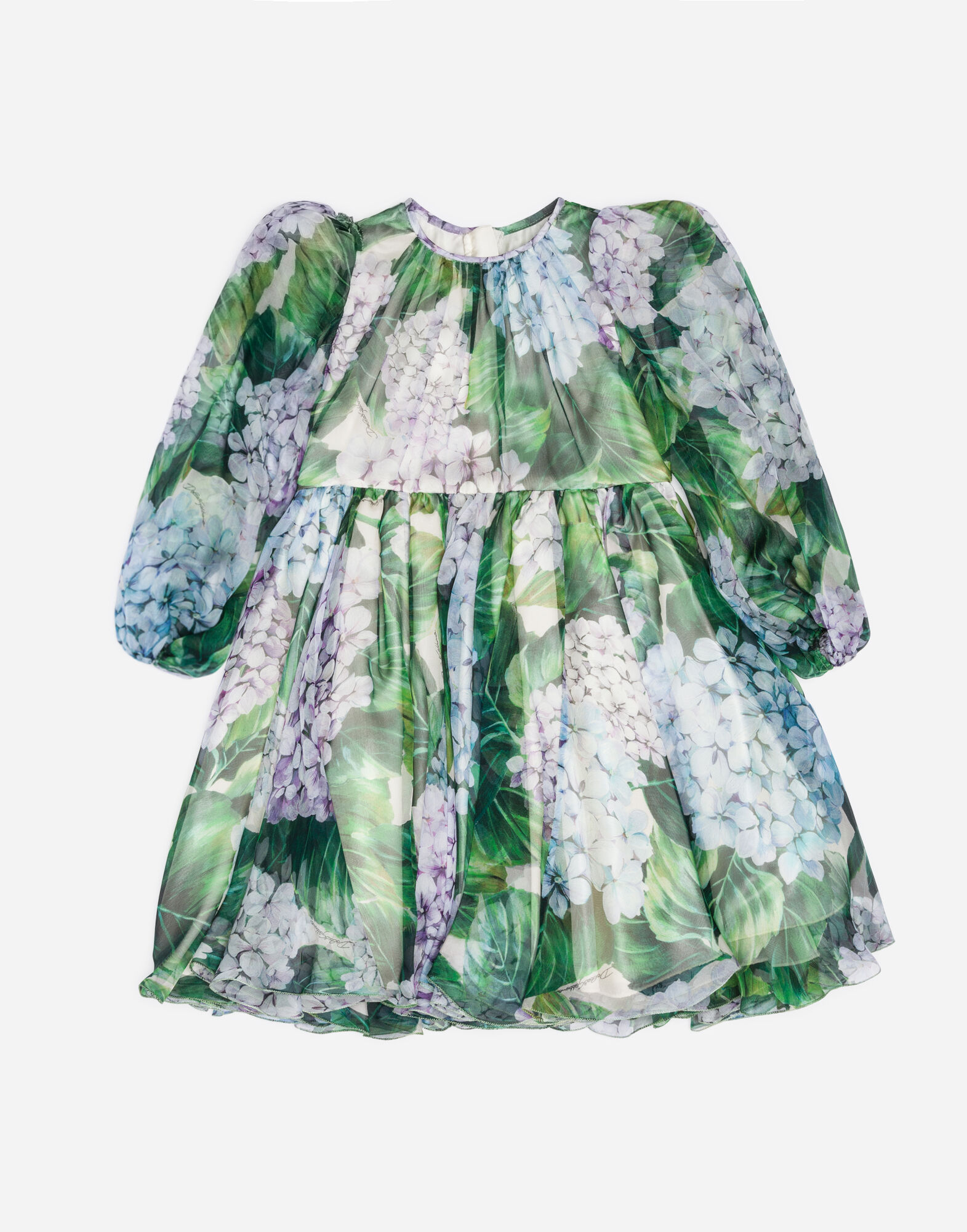 PRINTED SILK CHIFFON DRESS
