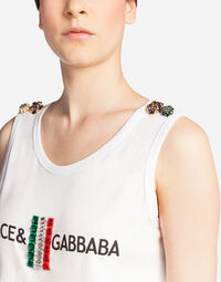 T-SHIRT WITH IRONIC DOLCE & GABBANA PRINT