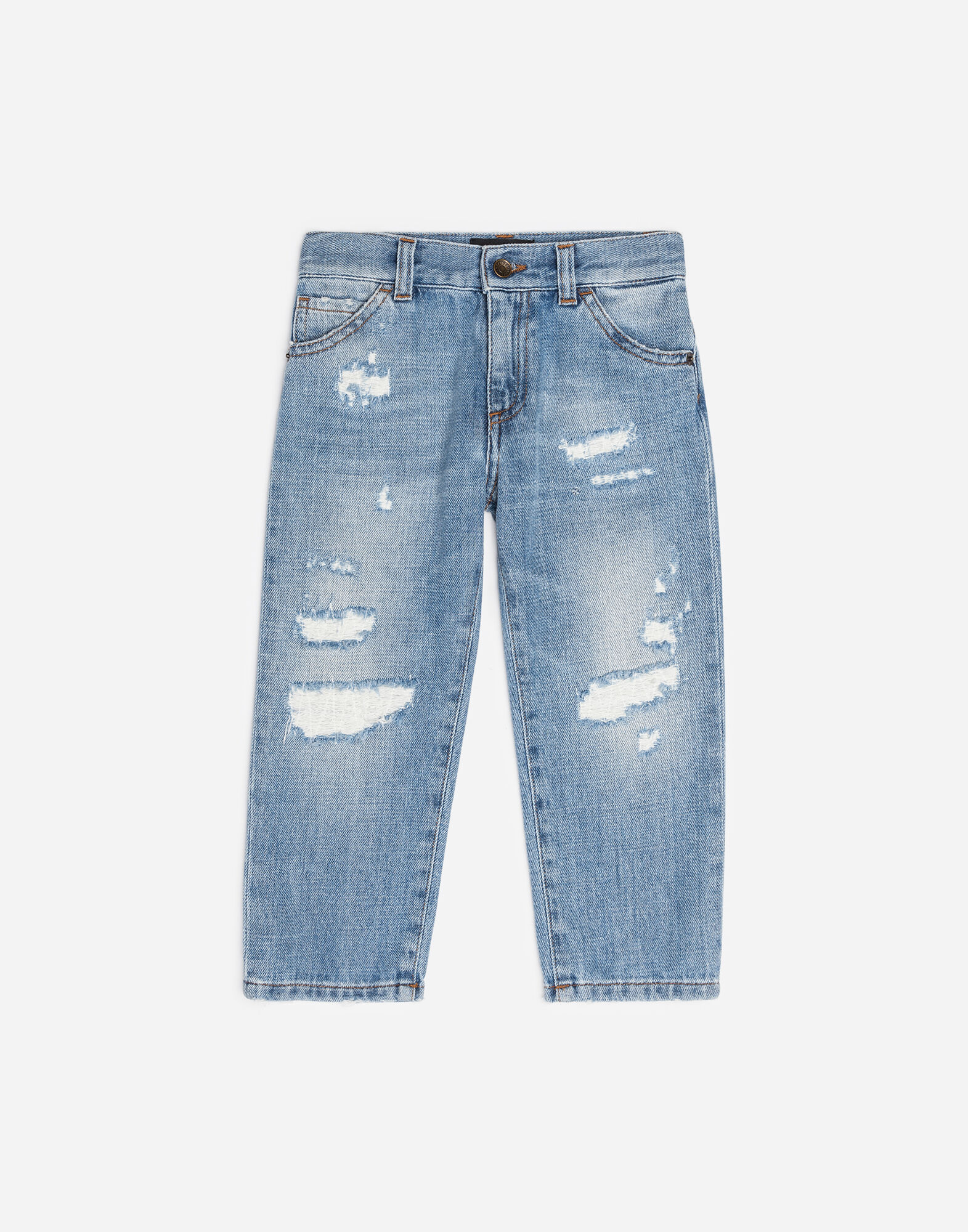 OVERSIZED JEANS WITH TEARS