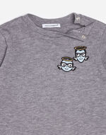 COTTON T-SHIRT WITH DESIGNERS' PATCHES