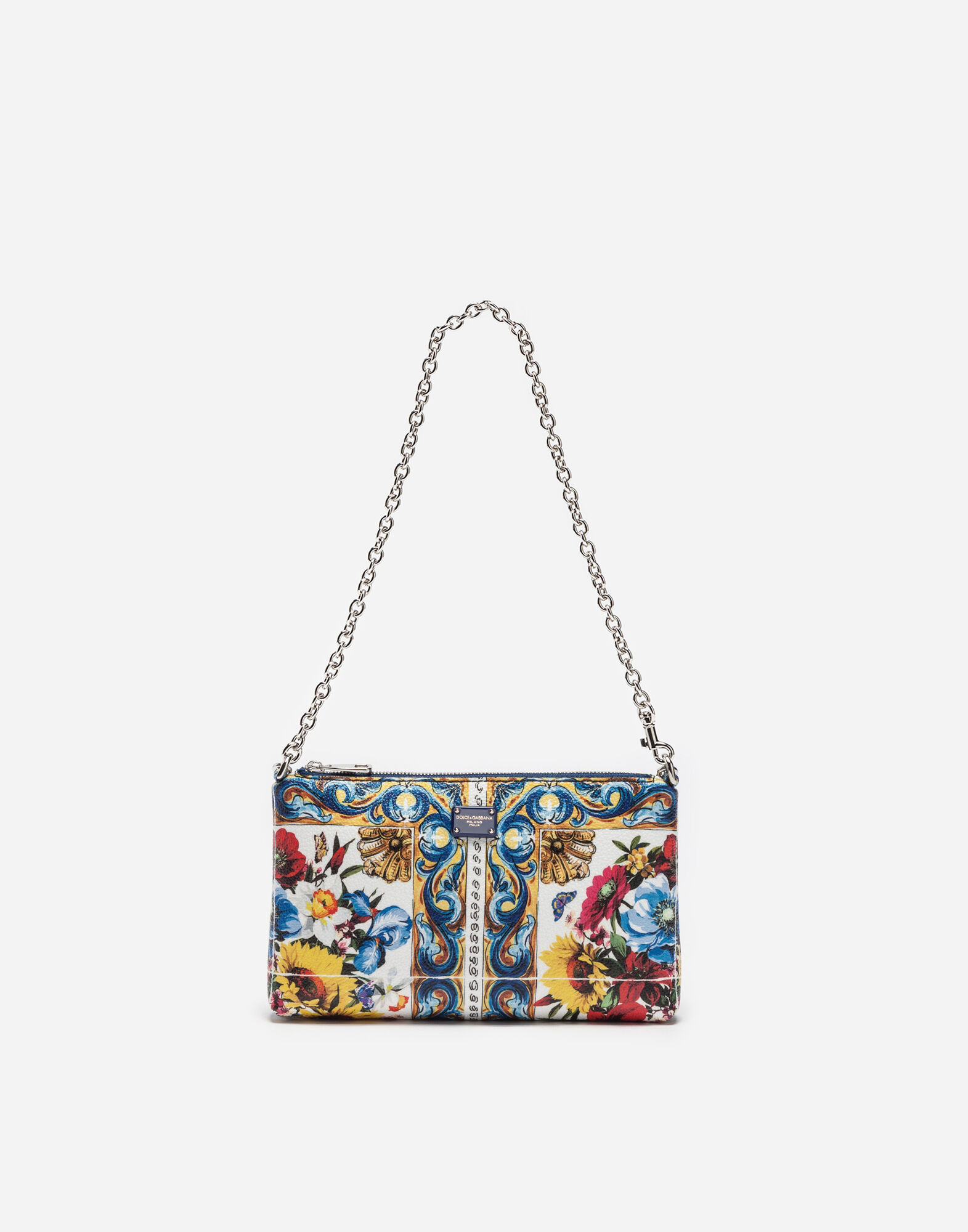 MINI BAG IN PRINTED RESINATED FABRIC