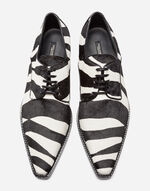PONY HAIR LACE-UP DERBY SHOES