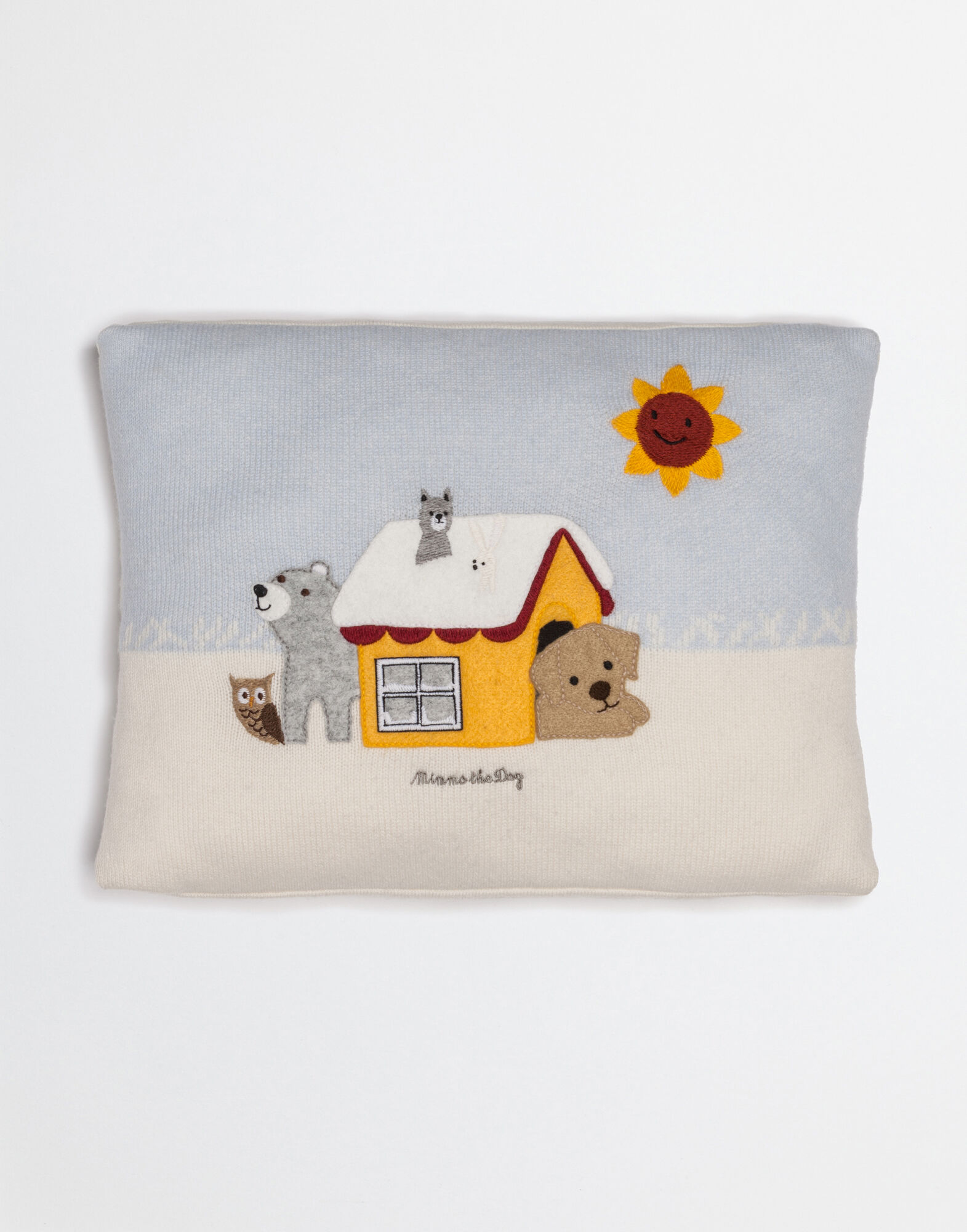 MIMMO THE DOG CASHMERE PILLOW