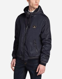BOMBER IN NYLON WITH A HOOD