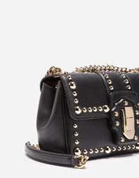 STUDDED LEATHER LUCIA SHOULDER BAG