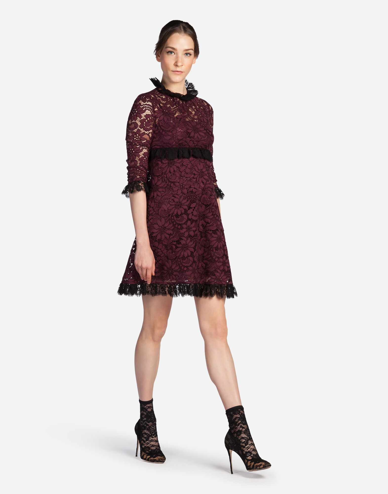 A-LINE DRESS IN CORDONETTO LACE
