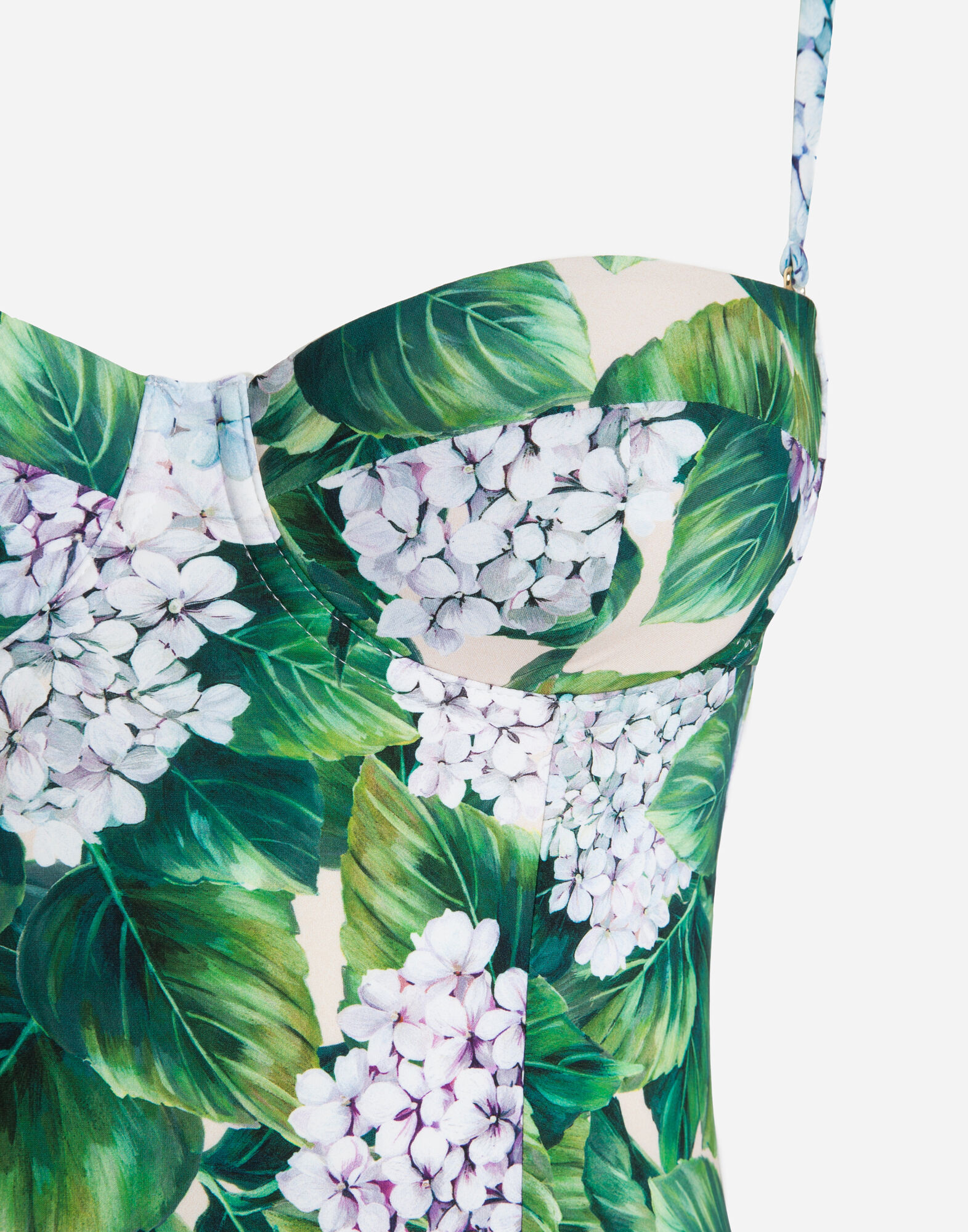 ONE-PIECE PRINTED BALCONETTE SWIMSUIT