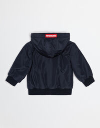 NYLON BOMBER JACKET WITH PATCH