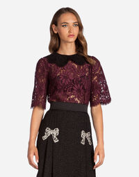 CORDONETTO LACE TOP