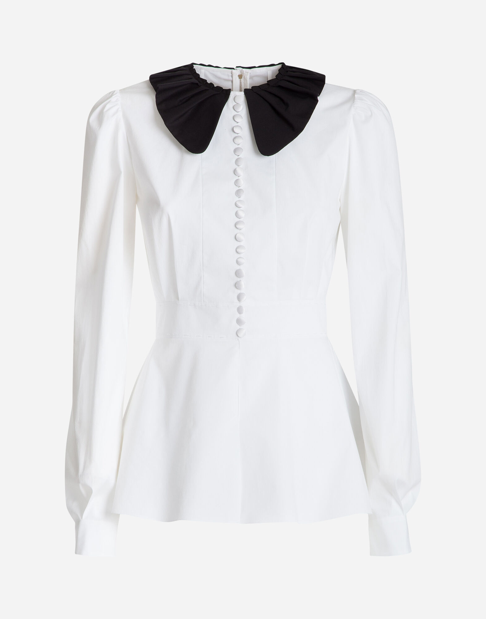 COTTON TOP WITH COLLAR
