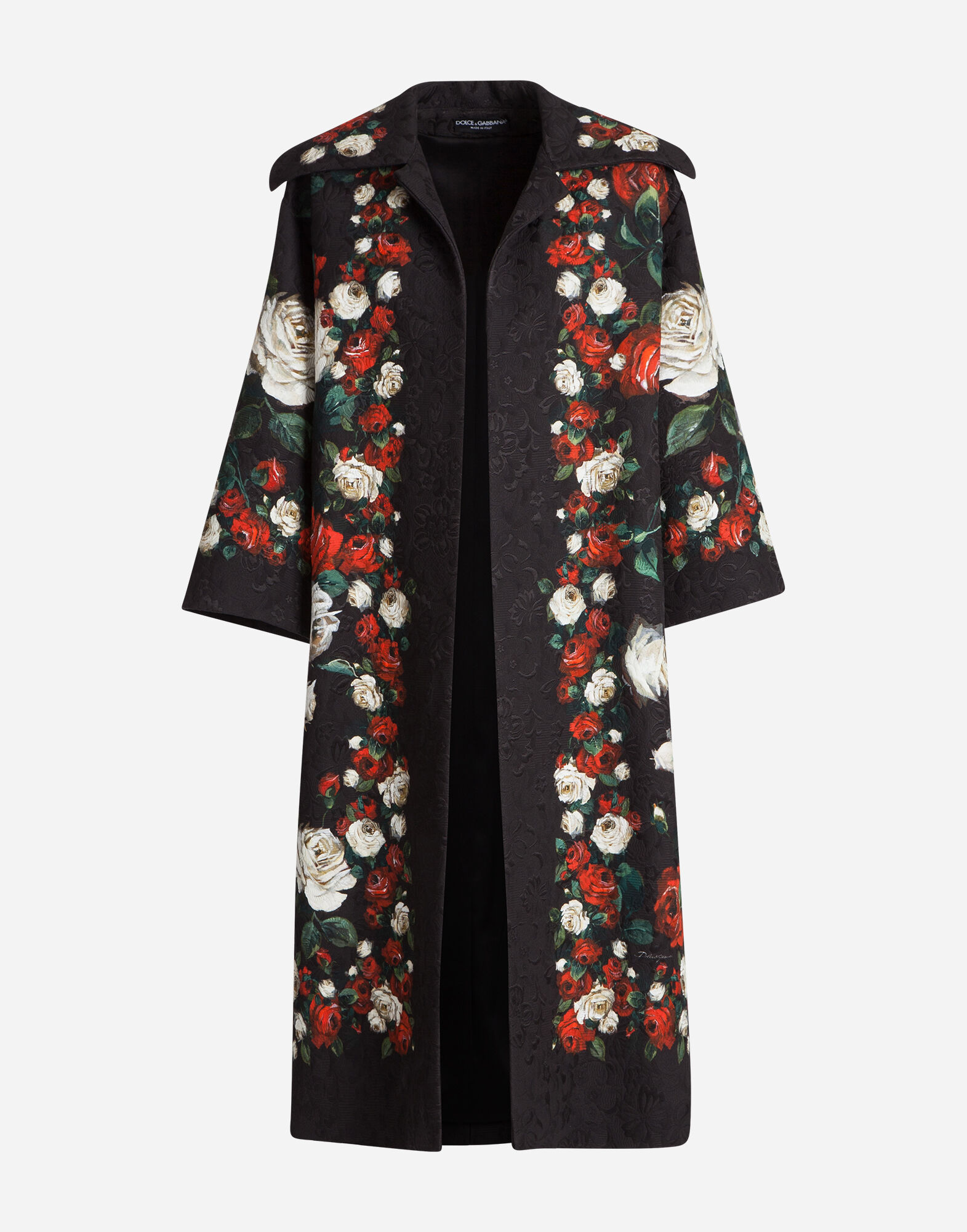 PRINTED BROCADE COAT