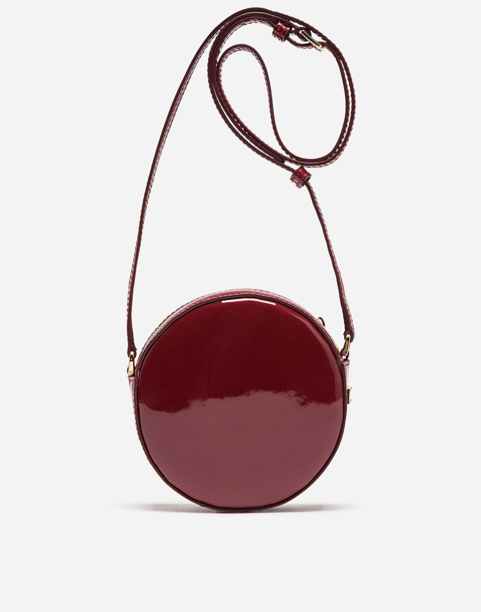 PRINTED PATENT LEATHER SHOULDER BAG