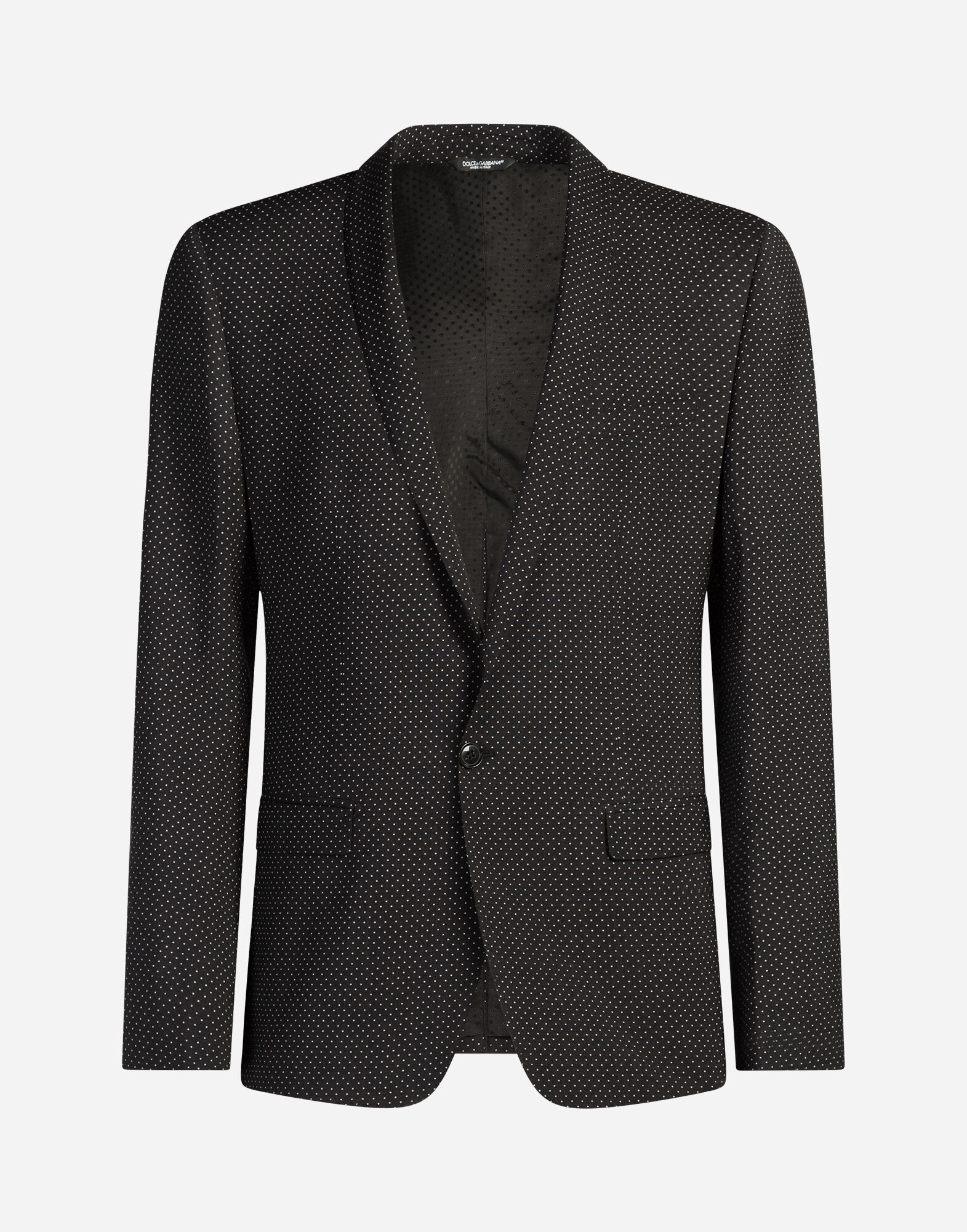 WOOL SUIT WITH POLKA-DOT PRINT