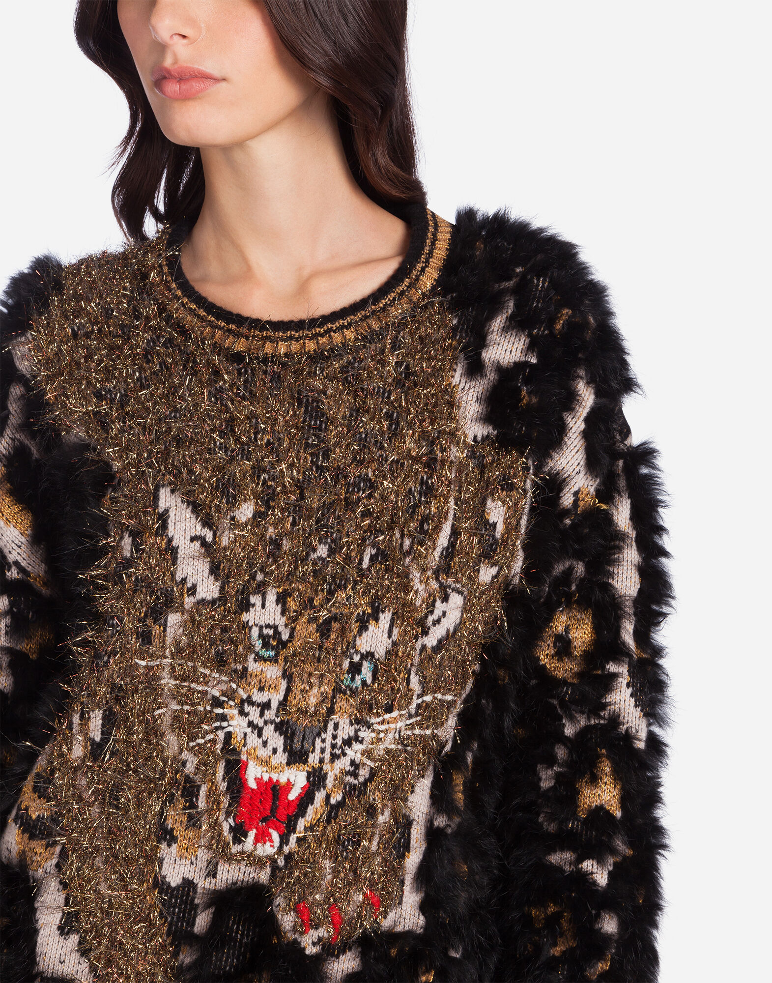 WOOL SWEATER WITH LAPIN DETAILS