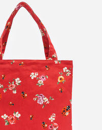 PRINTED CANVAS SHOPPER