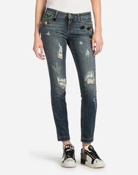 SKINNY JEANS WITH PATCH