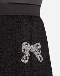 JACQUARD SKIRT WITH EMBROIDERY