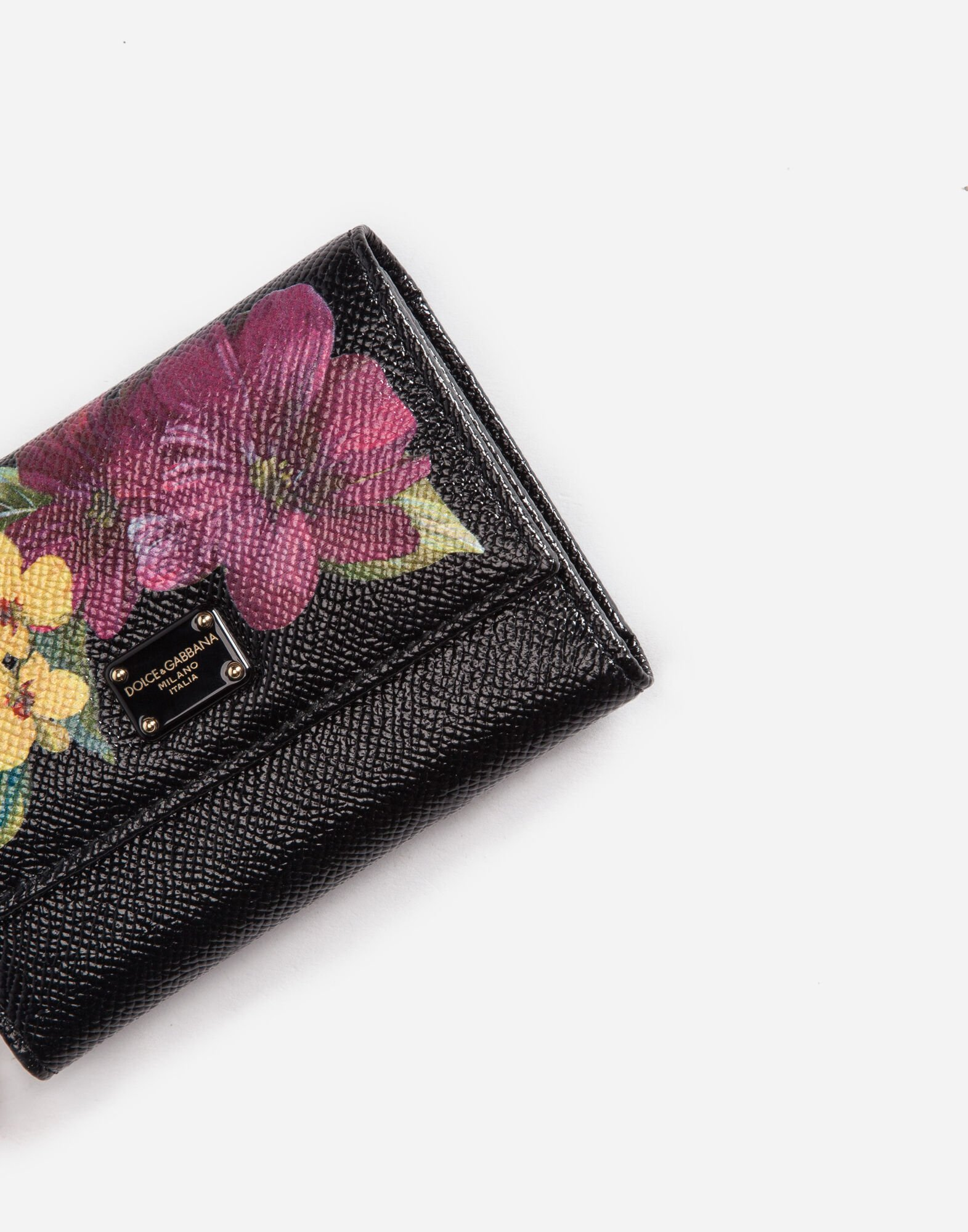 SMALL CONTINENTAL WALLET IN PRINTED LEATHER