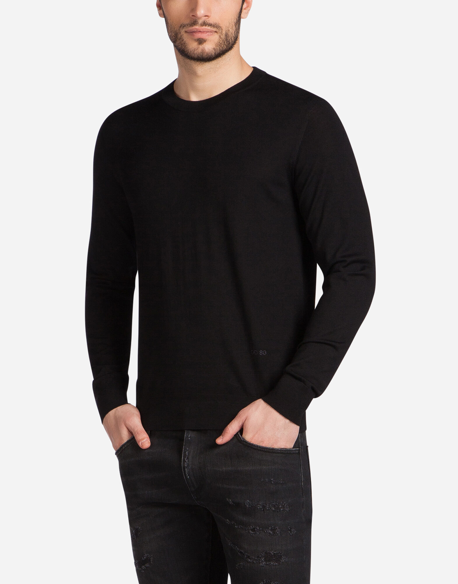 CREW NECK SWEATER IN WOOL