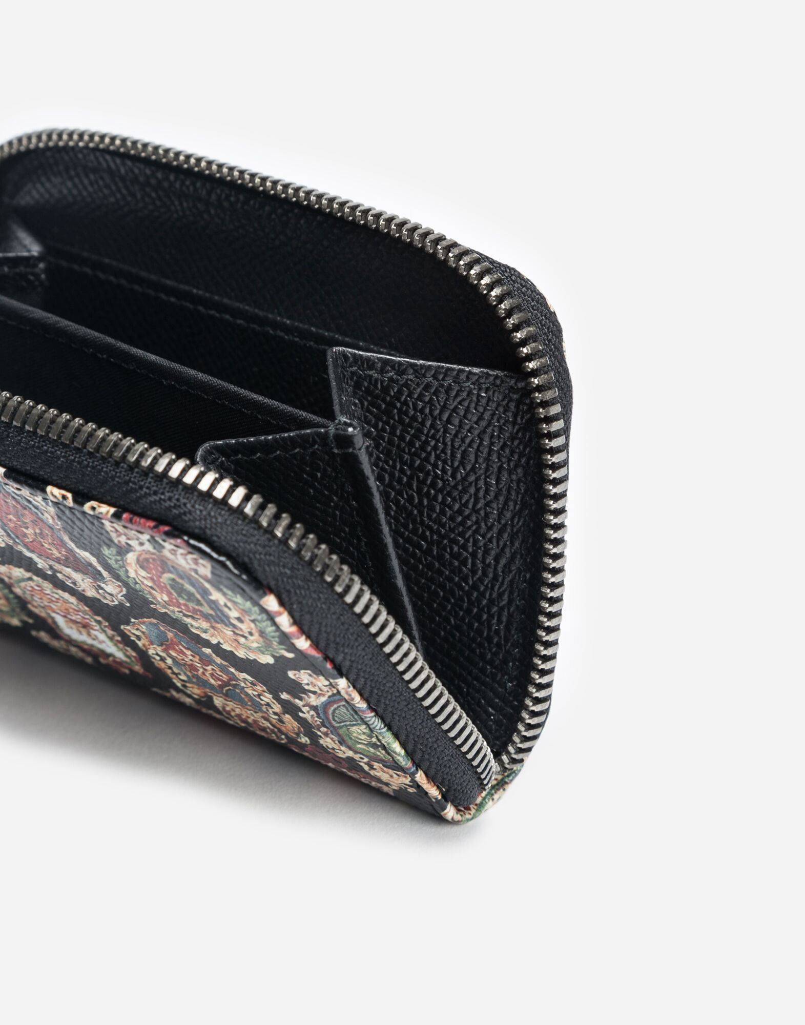SMALL ZIP-AROUND PRINTED LEATHER WALLET