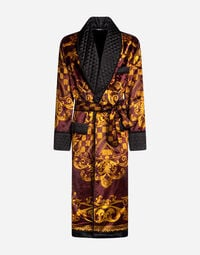 DRESSING GOWN IN PRINTED VELVET