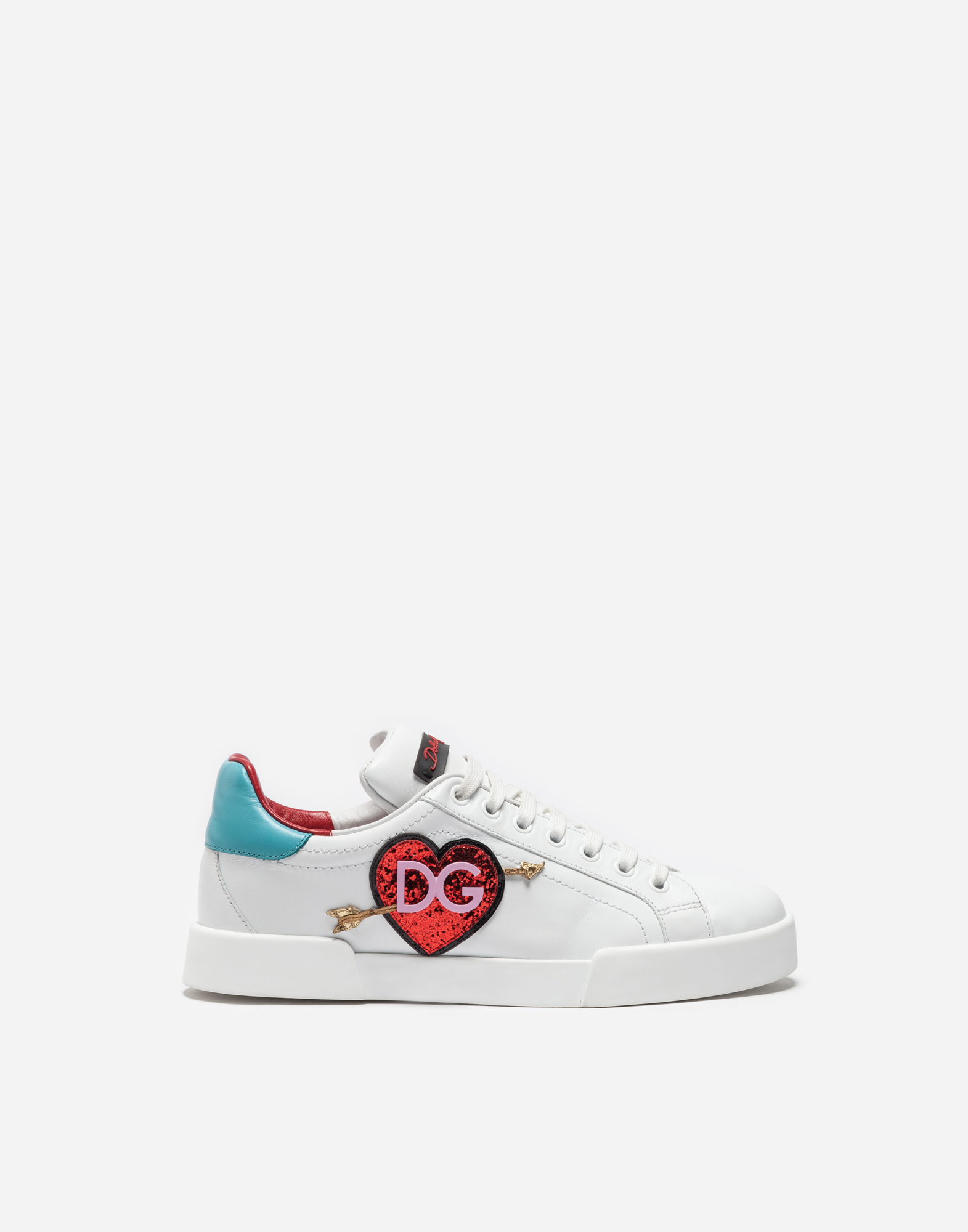 LEATHER SNEAKERS WITH PATCH