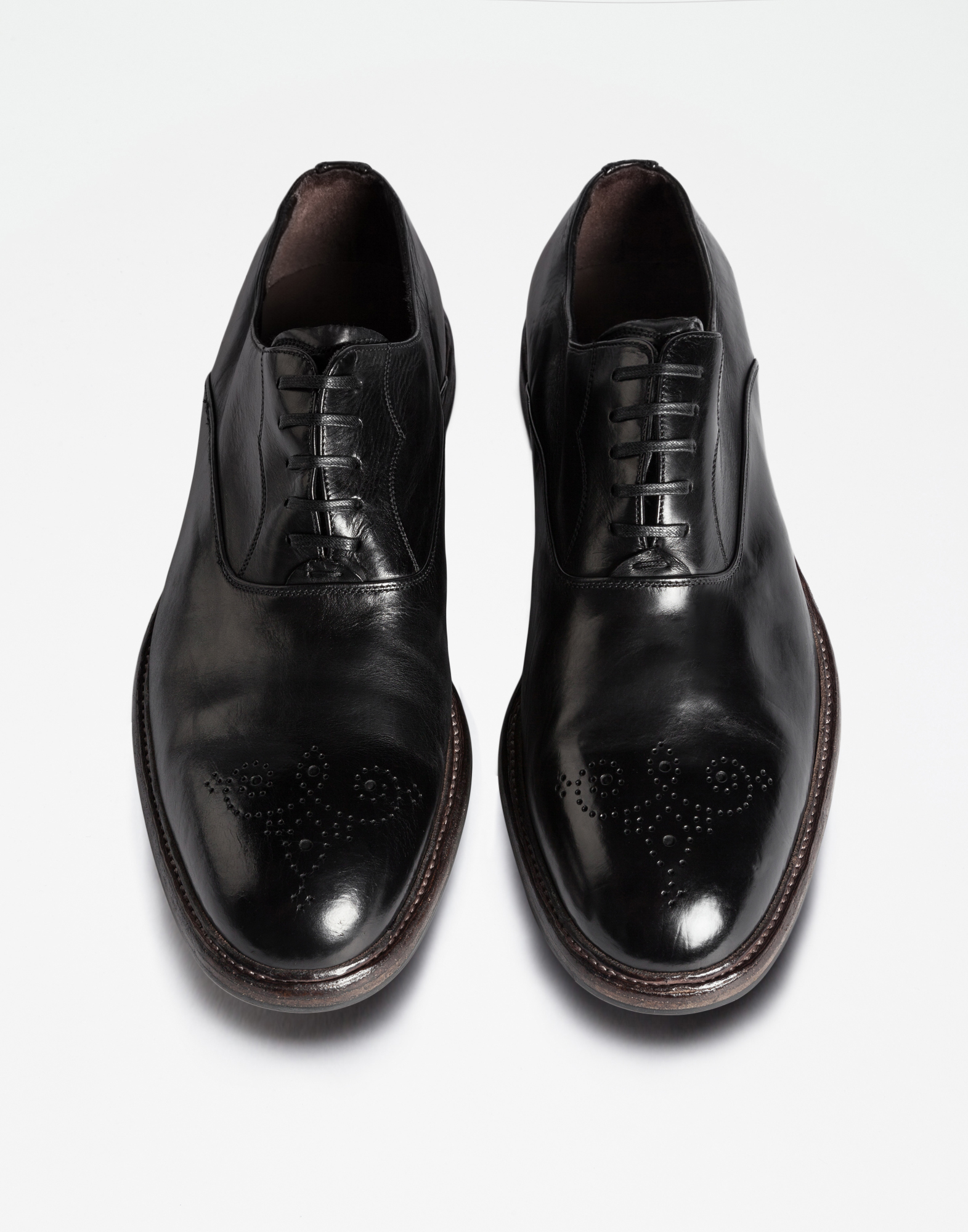 COLOR DIPPED LEATHER OXFORDS