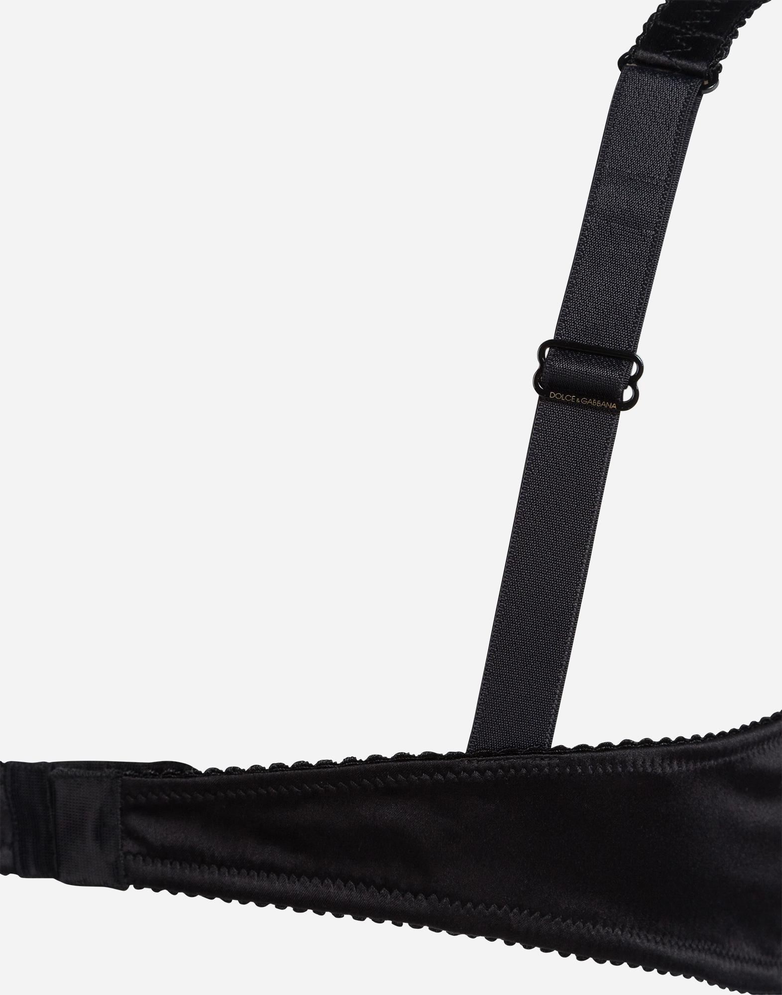 Dolce&Gabbana SILK BALCONETTE BIKINI TOP