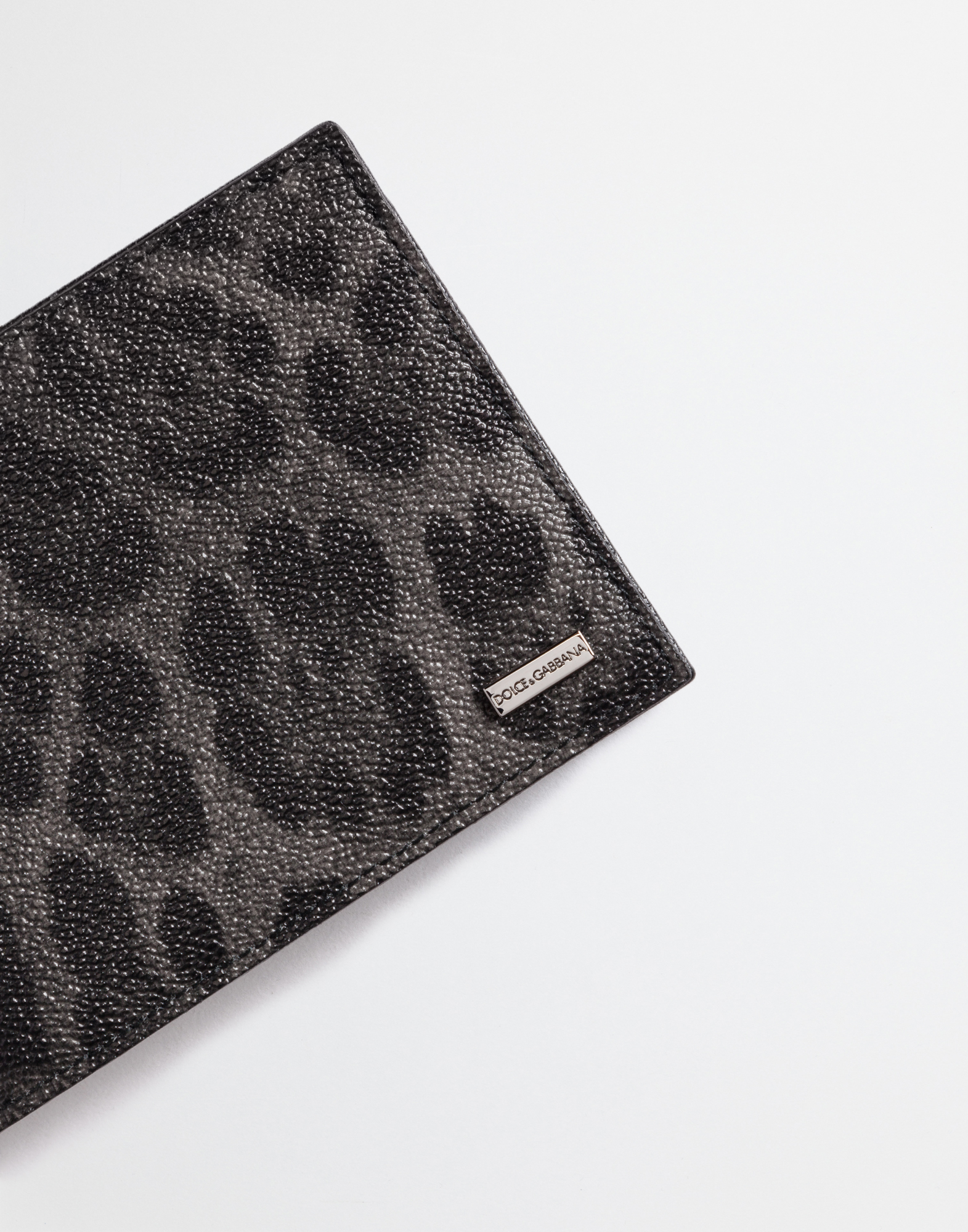 Dolce&Gabbana LEOPARD TEXTURED LEATHER WALLET