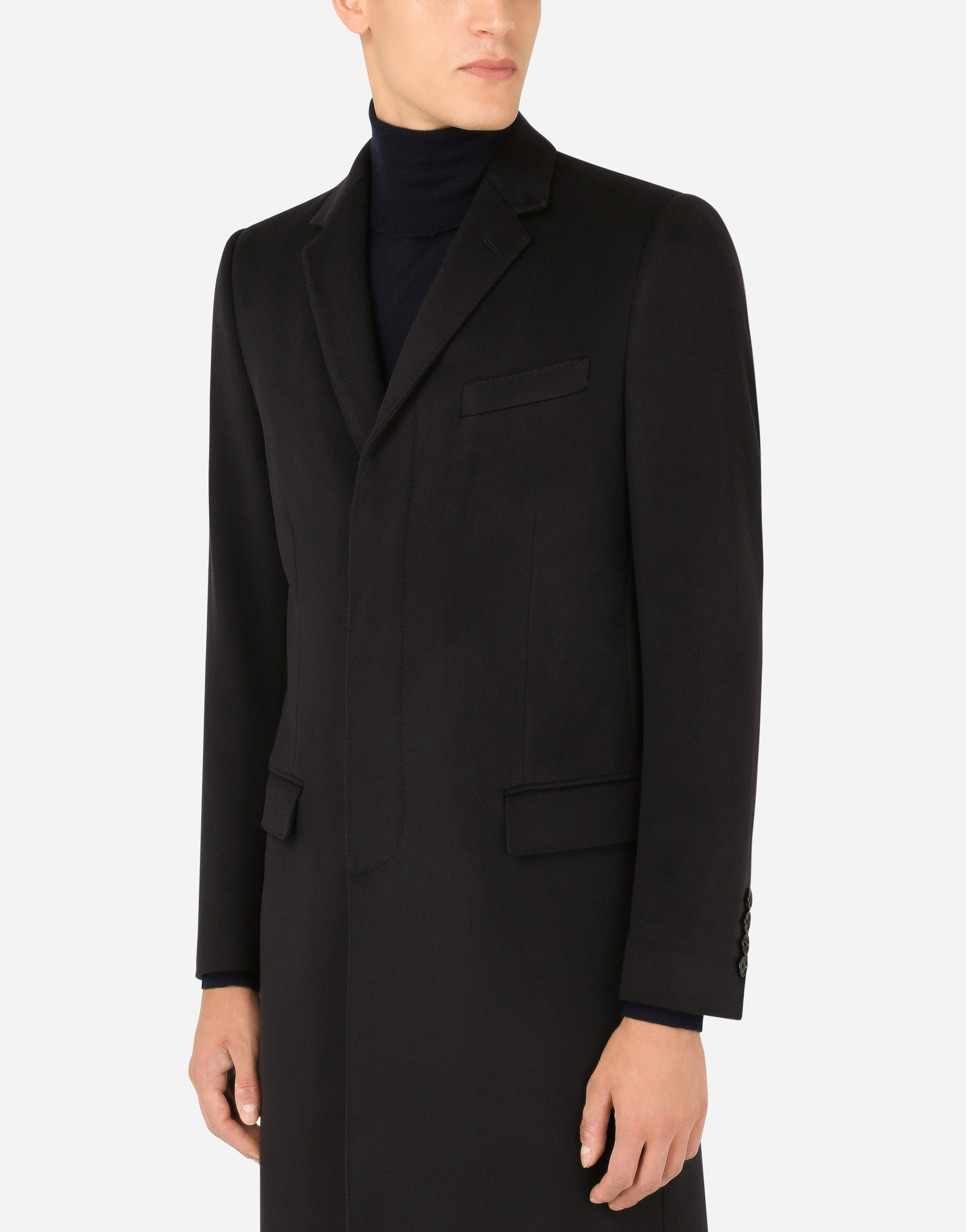 SINGLE-BREASTED WOOL COAT