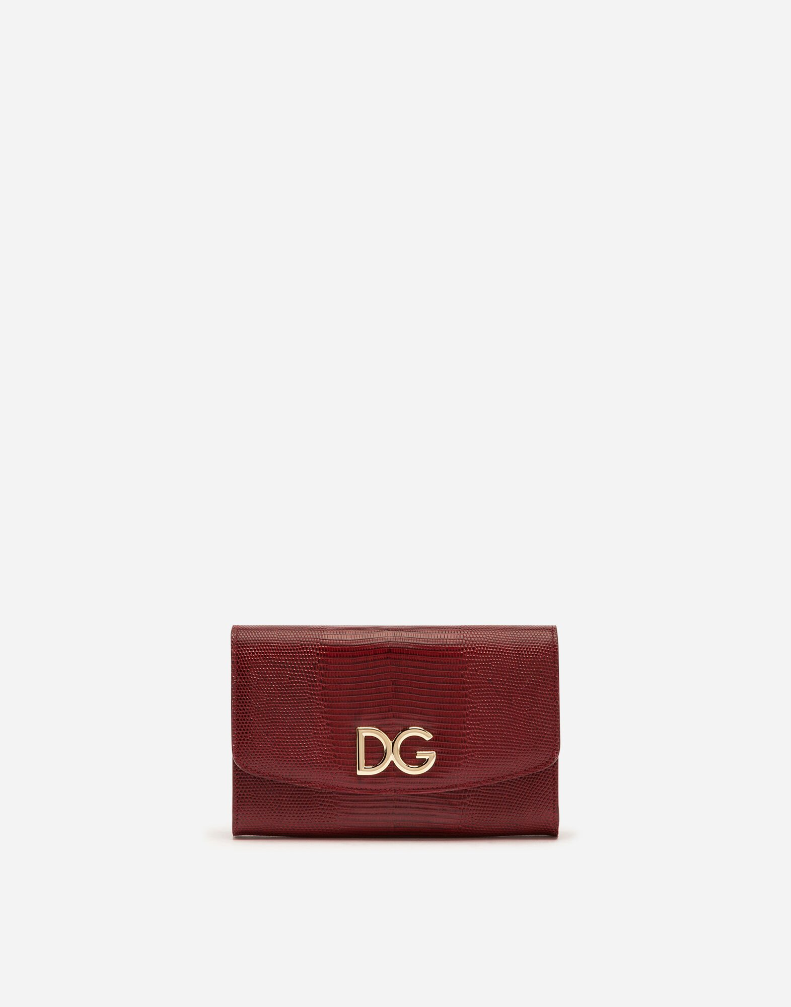 Dolce & Gabbana Small Leather Goods - IGUANA PRINT CALFSKIN WALLET BAG