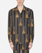 Dolce & Gabbana PAJAMA SHIRT IN PRINTED SILK