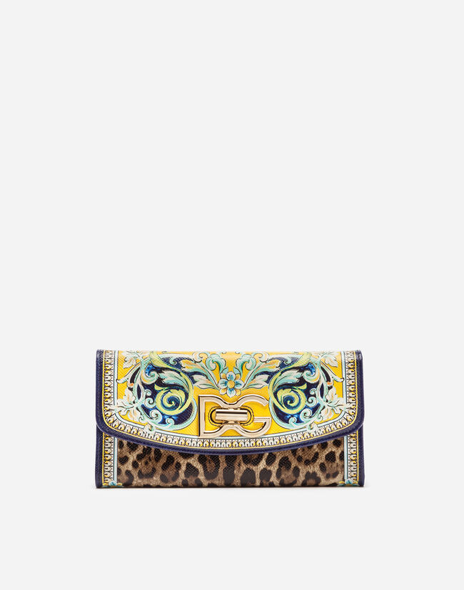CONTINENTAL WALLET IN PRINTED DAUPHINE CALFSKIN
