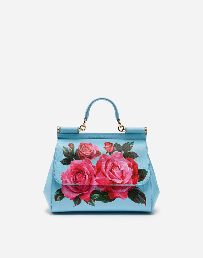 MEDIUM SICILY BAG IN PRINTED DAUPHINE CALFSKIN