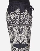 Dolce & Gabbana PAJAMA PANTS IN PRINTED SILK