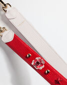 Dolce & Gabbana STRAP IN DAUPHINE LEATHER WITH APPLICATIONS