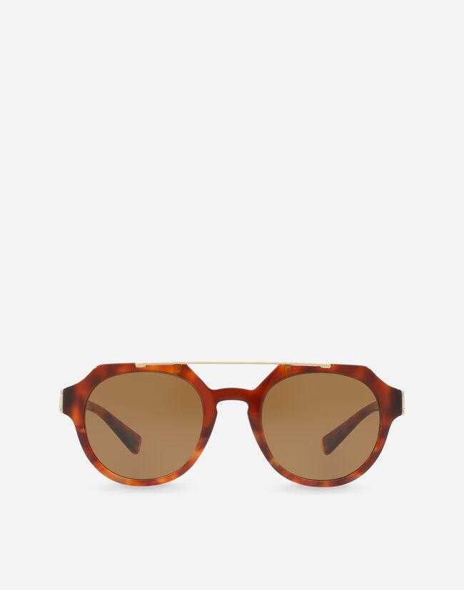 c15dba19b4f Round Sunglasses With A Double Bridge - Men