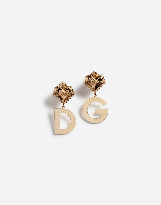 PENDANT EARRINGS WITH DG LOGO