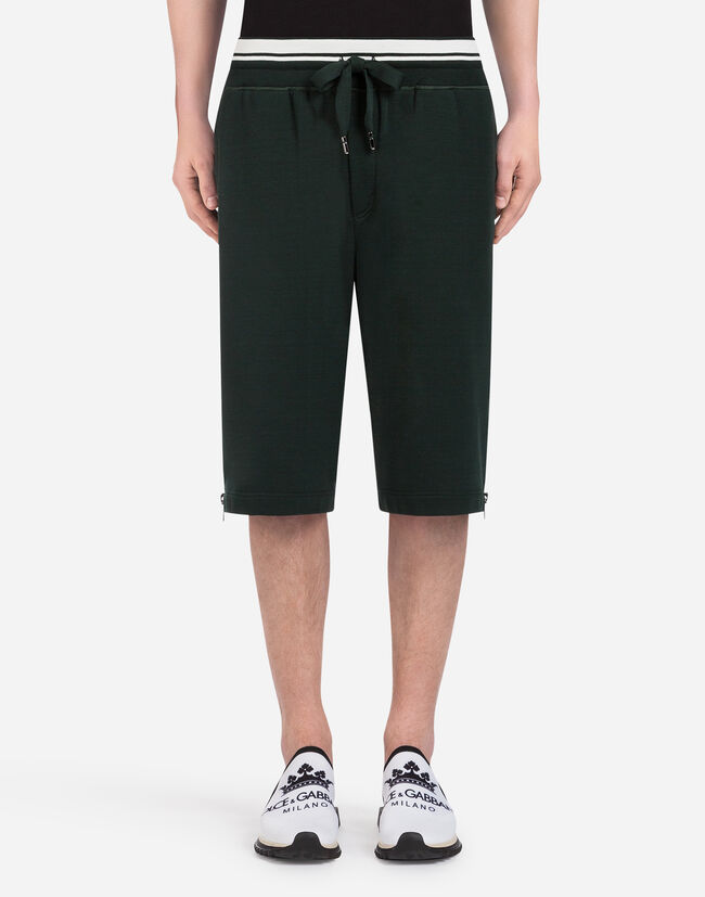 Dolce & Gabbana COTTON JOGGING SHORTS WITH PRINT