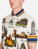 Dolce & Gabbana PRINTED COTTON PIQUÉ POLO SHIRT