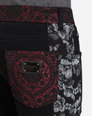 Dolce&Gabbana GOLD FIT STRETCH JEANS WITH BROCADE DETAILS