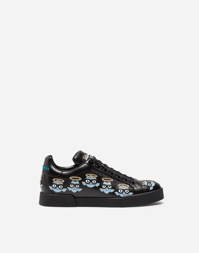PRINTED PORTOFINO LEATHER SNEAKERS