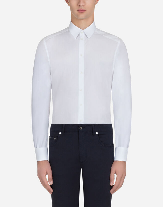 Dolce&Gabbana MARTINI FIT SHIRT IN JACQUARD COTTON