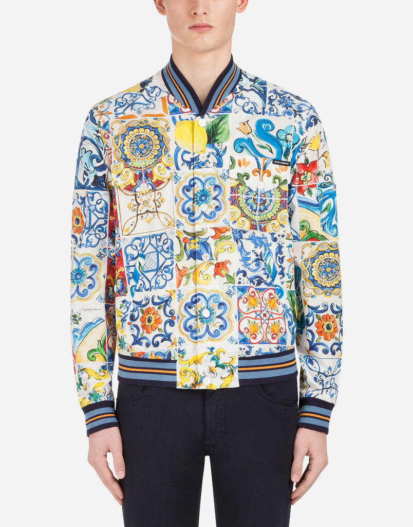 Dolce&Gabbana PRINTED COTTON JACKET